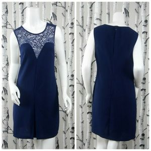 Tobi Navy Lace Cocktail Party Holiday Dress Sz M
